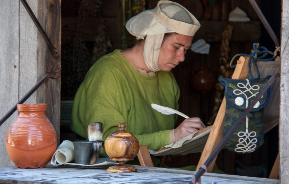 Medieval Writer by Hans Splinter