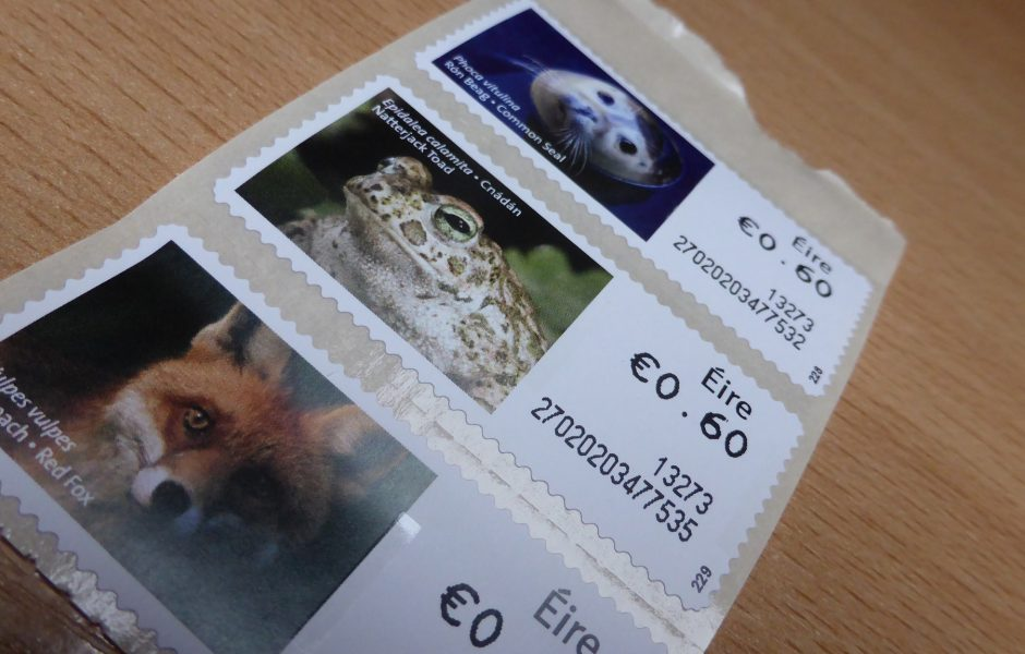 Irish Stamps by Sean MacEntee.