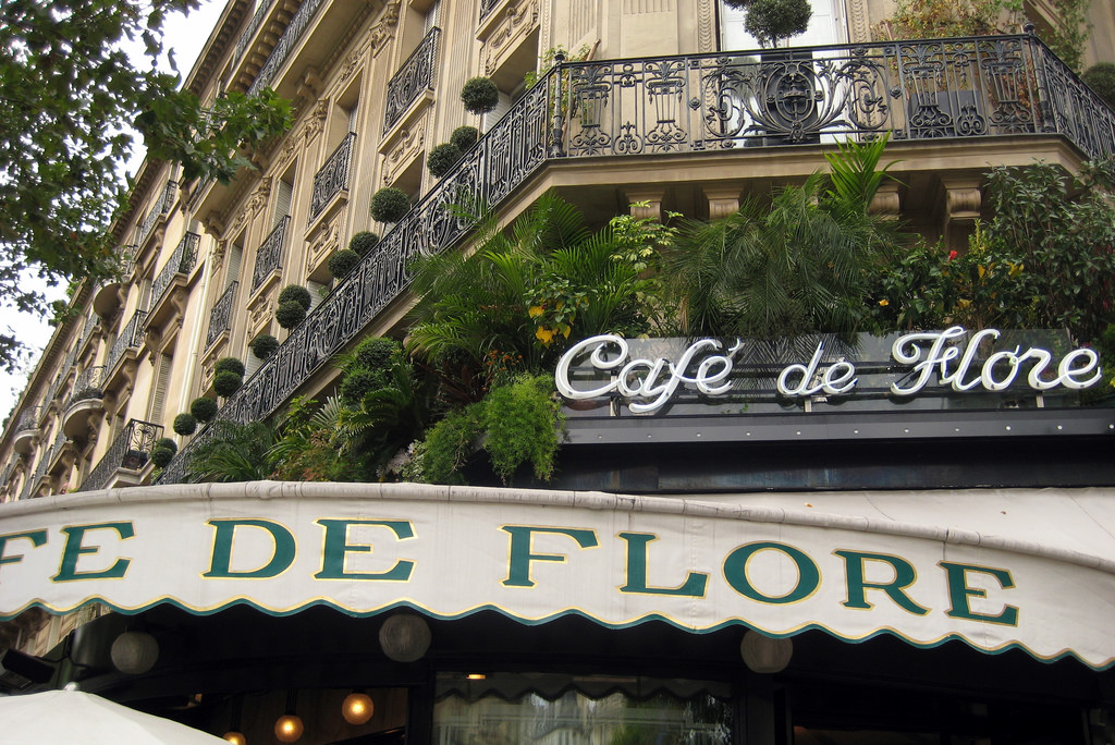 Paris - St-Germain-des-Prés: Café de Flore by Wally Gobetz