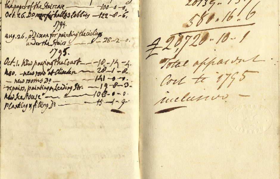 Walpole's Account Book For Building Strawberry Hill by Chetham's Library