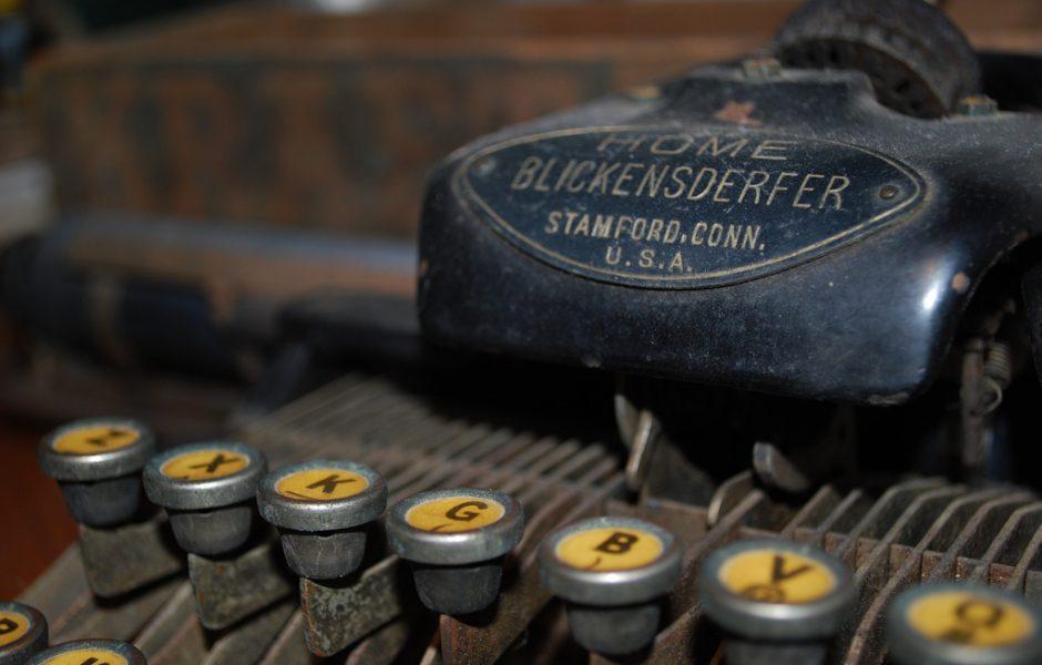 Typewriter by a b