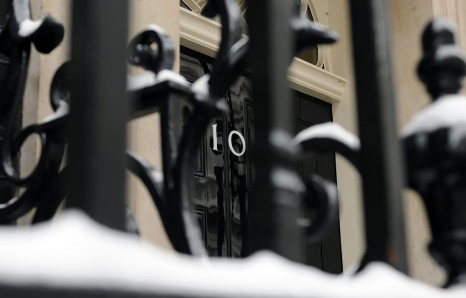 Snow in Downing Street by Number 10