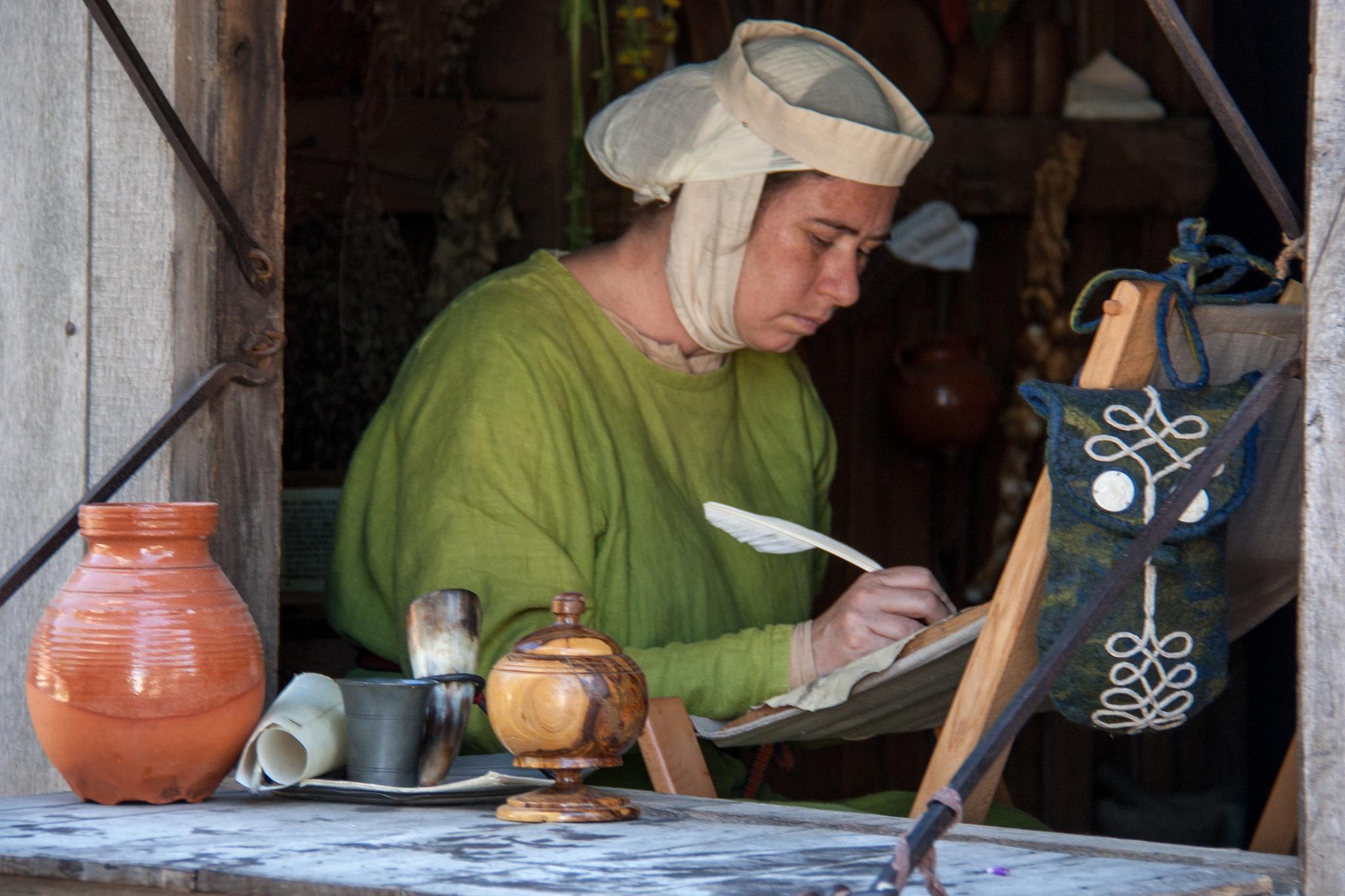 Medieval Writer by Hans Splinter
