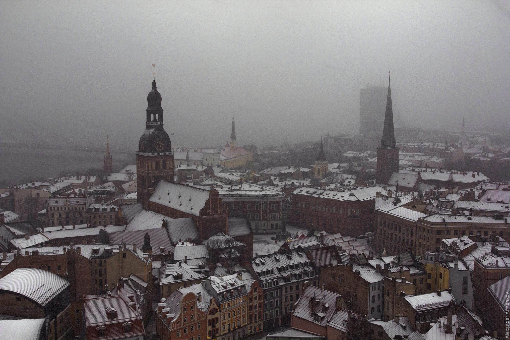 Stormy Riga by Alexander Annenkov