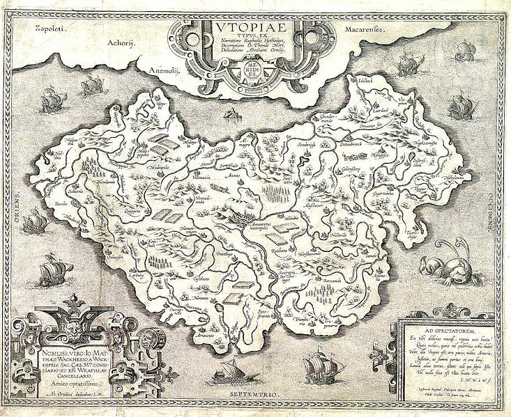 Map of Utopia from 1595
