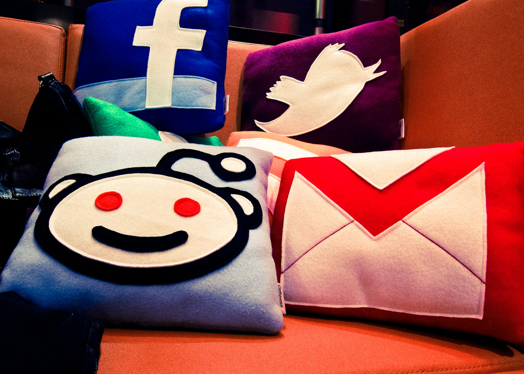 Social Media Pillows by Nan Palmero.