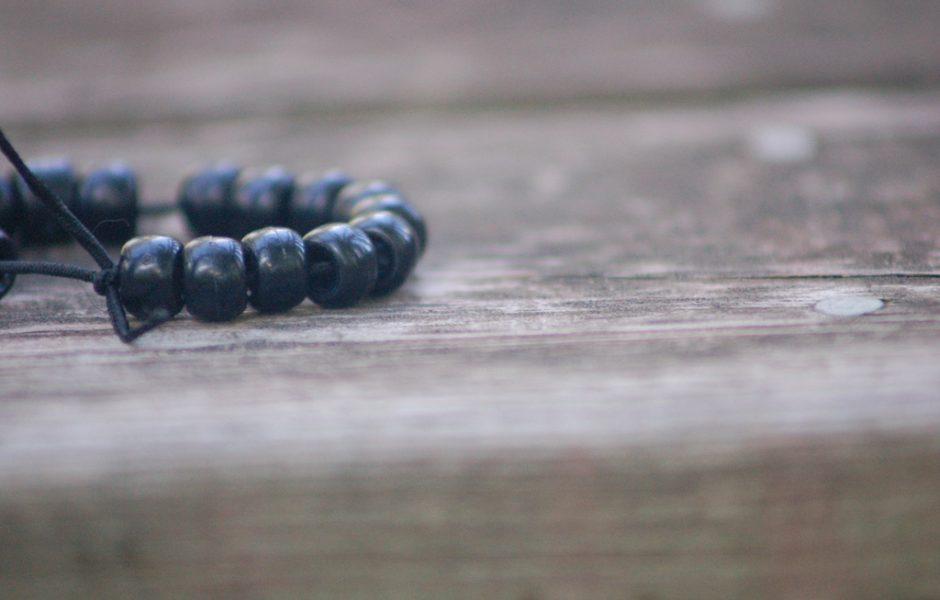 Bead bracelet by Sean Winters.