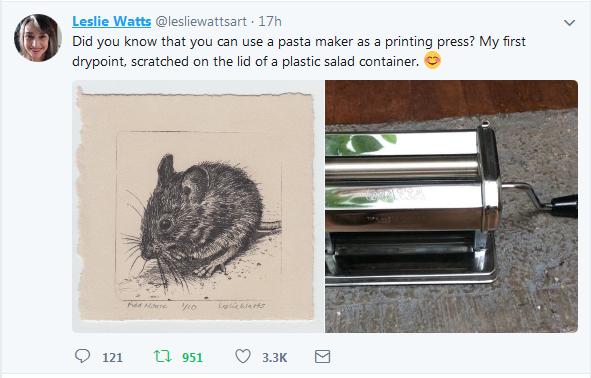 Twitter Status Update by Leslie Watts.