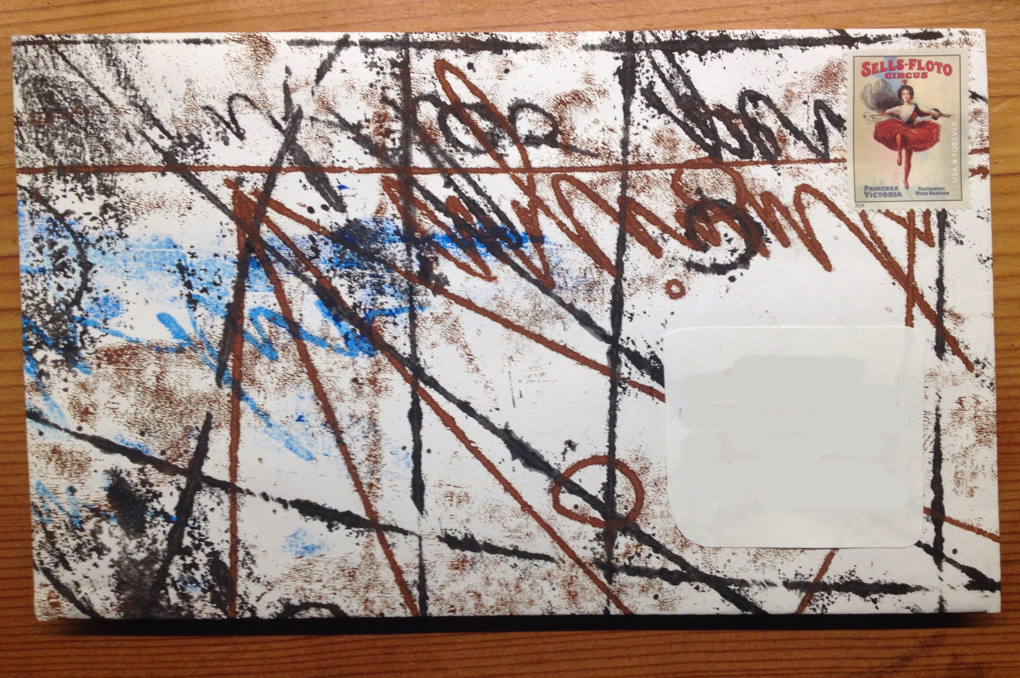 Decorated Envelope by Tim Ereneta.