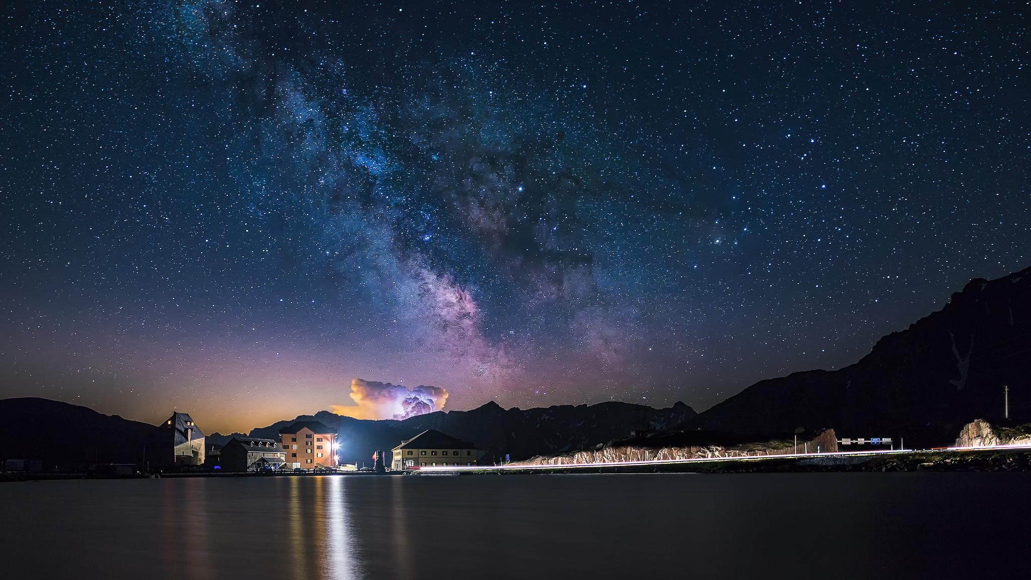 Ospizio San Gottardo Milky Way by Lukas Schlagenhauf.